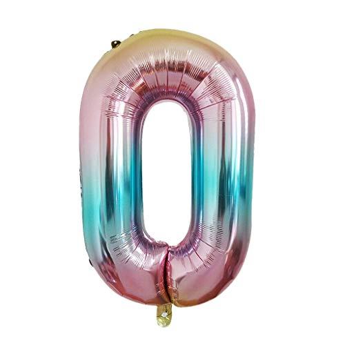 Mitlfuny Auto-Modell Plüsch Bildung Squishy Spielzeug aufblasbares Spielzeug im Freien Spielzeug,40-Zoll-Regenbogen-Steigungsnummer 0-9 Folien-Digital-Ballone für Geburtstagsfeier (Hulk Aufblasbare)