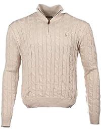 Ralph Lauren Polo Hommes Tricot Torsadé Pull Col Rond Noir, Marine, Gris,  Blanc 51a2635d989