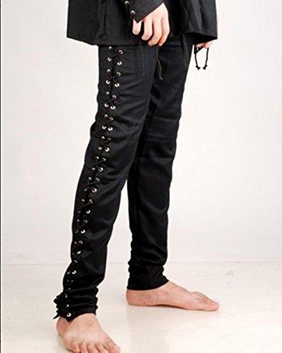 Preisvergleich Produktbild Gothic Death Piraten Hose - Black - Piraten Hose - Pirat Larp Mittelalter, Grösse:L/XL