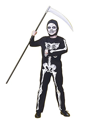 Rubies - Disfraz infantil de esqueleto, 8-10 años (Rubie's 12507-L)
