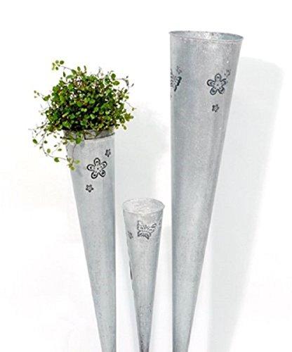 Plantes Sachet pot en métal zinc Sachet décoration – H75 cm