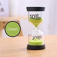 Reloj de arena Sand Reloj Temporizador 1 Min / 3 Min / 5 Min / 10 Min / 15 Min / 30 Min, Ideal para hogar, deportes y juegos, 6 Colores, Color al Azar