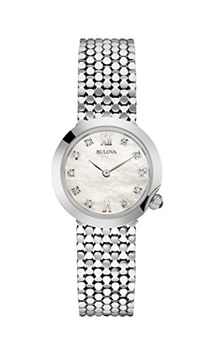 Bulova-Ladies-Womens-Designer-Diamond-Watch-Bracelet-Stainless-Steel-Wrist-Watch-96S163
