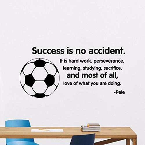 n Unfall Wandtattoo Pele Zitat Fußball Poster Home Gym Sport Vinyl Aufkleber Spielzimmer Kinderzimmer Dekor Kunstwand 42 * 86 Cm ()