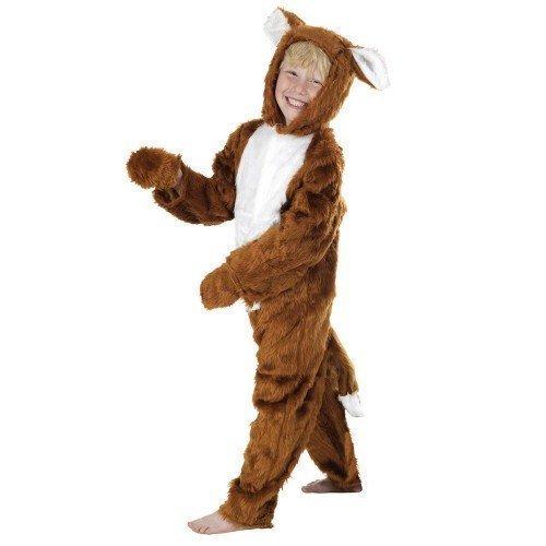 er Kinder Fantastic Mr Fox Einteiler Buch Woche Tier Kostüm Kleid Outfit - Braun, 4-6 years (116cms) (Fantastic 4 Kostüm)