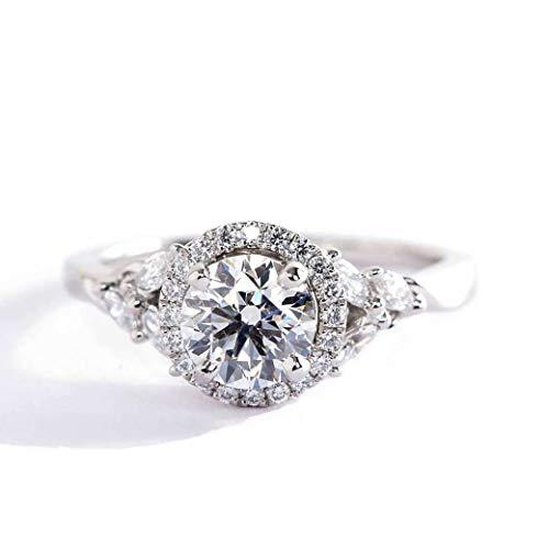 Verlobungsring Weißgold 18 Karat (750) Diamant 1,15 Karat SI2 G rund Brillantschliff GIA zertifiziert