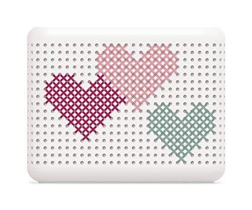 Rotho Madei Deko-Set Herzen inkl. Nadel und Anleitung, 65% Baumwolle, blau/grün/pink/rosa, 3 mm Durchmesser -