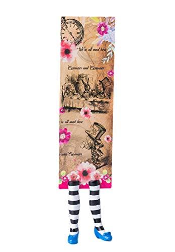 Lesezeichen Alice im Wunderland - tolle Illustration und geformte Alice Füße -