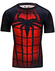 T-Shirt Spider-Man Abbigliamento Fitness Uomo Asciugatura Rapida T-Shirt Batman Traspirante Riding Running Training T-Shirt A Maniche Corte