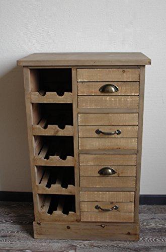 Unbekannt Rustikale Weinkommode ROOTY Holz Braun