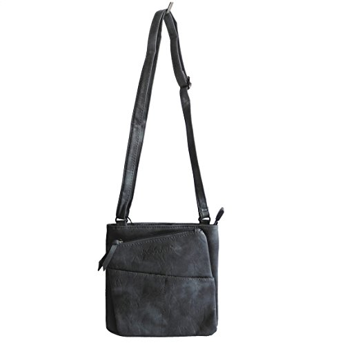 Jennifer Jones - kleine - schicke Damen Handtasche Clutch Umhängetasche Abendtasche Ausgehtasche Schultertasche (Blau) - präsentiert von ZMOKAu00ae