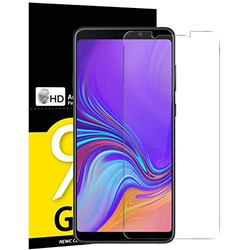 NEW'C Verre Trempé pour Samsung Galaxy A9 2018 (SM-A920F)/ A9 Star Pro/ A9S, Film Protection écran - Anti Rayures - sans Bulles d'air -Ultra Résistant (0,33mm HD Ultra Transparent) Dureté 9H Glass
