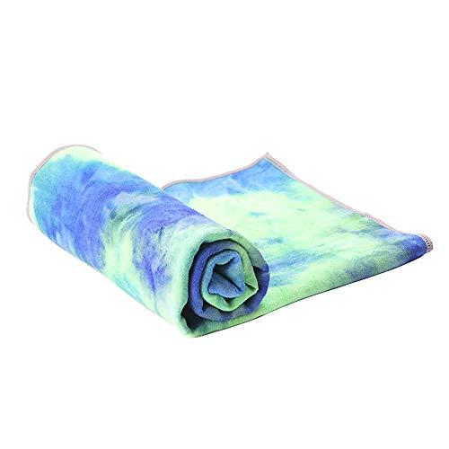 ASDFGH Lazo teñido Gradiente Yoga Mat Toalla, Portátil con Anti Slip Silicona Dots Toalla de la Yoga Caliente Sudor Absorbente Rápido-sequedad Yoga Mat Toalla-A 72x25 Inch