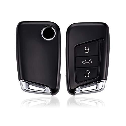 KAKTUS VW Coque de Protection pour clé de Voiture Intelligente VW Volkswagen B8 Passat Type 3G (Version keyless/sans clé) - C