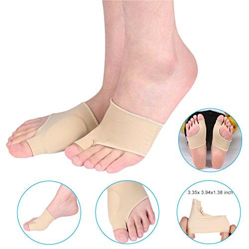 Doact Hallux Valgus Korrektur Bandage(1 Paar), Hallux Valgus Socken für die Schmerzlinderung bei Bunion für Herren und Damen (EU Größe 34~45)