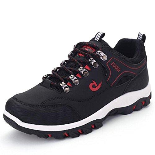 Scarpe casual da uomo all'aperto da autunno e da inverno scarpe da trekking antiscivolo scarpe sportive da trekking moda black