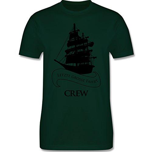 JGA Junggesellenabschied - Crew Letzte große Fahrt - Herren Premium T-Shirt Dunkelgrün
