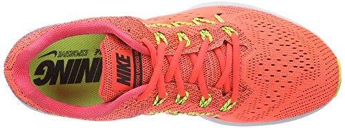 Nike  Air Zoom Vomero 10,  Herren Laufschuhe Mehrfarbig (Bright Crimson/Black-Ghost Green-Volt)