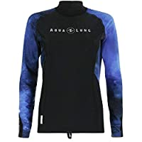 Aqua Lung Galaxy Long Sleeve Rash Guard for Women, Blue L