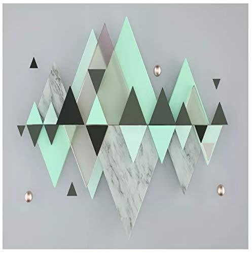 Gwrdnjpjc Photo Wallpaper Modern Abstract Art 3D Geometry Triangle Mint Green Mural Wall Painting Living Room Bedroom Decor@300 * 210 (Mint Green Room Decor)