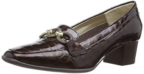 Van Dal Edendale Damen Pumps Brown Patent Croc