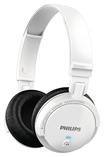 Philips SHB5500- Cuffie Bluetooth, Bianco