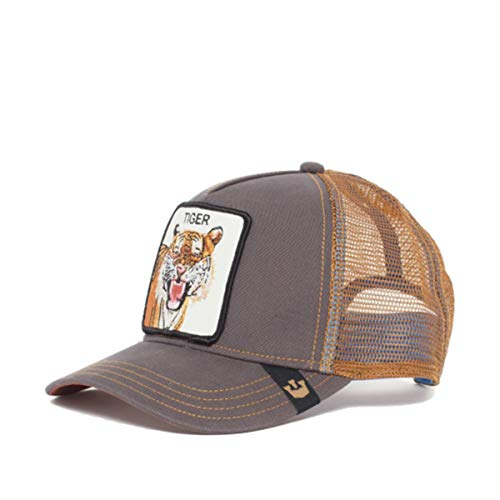 e7c968f86ec58 Goorin Bros Unisex Animal Farm Snap Back Trucker Hat Brown Eye of The Tiger  One Size