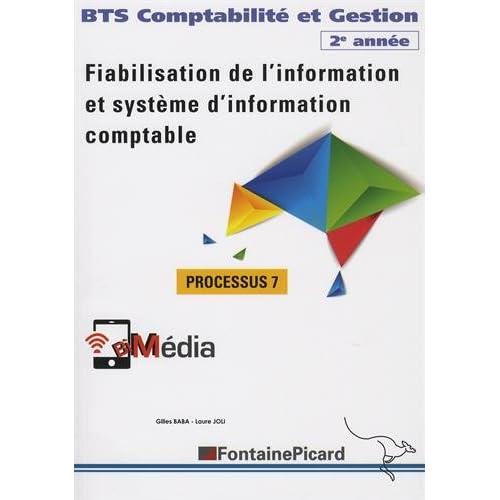 Fiabilisation de l'information et système d'information comptable, BTS Compatbilité et Gestion 2e année : Processus 7