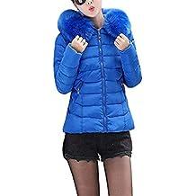 40bdb4299c440 Marciay Abrigos Espesar Invierno Mujer Abrigo Acolchado Transición Grandes  Manga Slim Fit con Elegantes Tallas Fashion