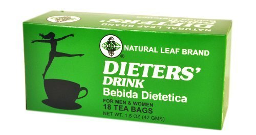 Natural Leaf Brand Dieters' Tea Drink, 18-Count by Monstra LLC (dba Pacific Rim Gourmet)