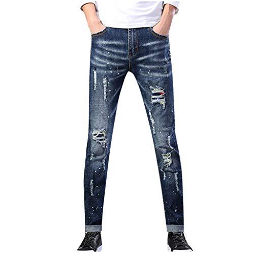 Dwevkeful Herren Destroyed Jeans Mode GrößE Trousers Stretch Pants Denim Hosen Freizeithose Trainingshose Trekkinghose Jogginghose Casual Jogger