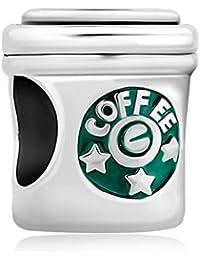 Korliya Sterne Kaffeetasse Charm Bead für Armband