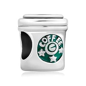 Korliya Kaffeetassen-Anhänger mit Sternen für Bettelarmband