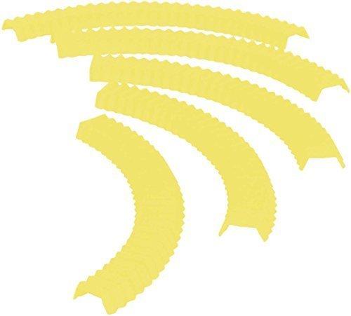 Casabella Pie Crust Shield, Yellow, Set of 5 by Casabella