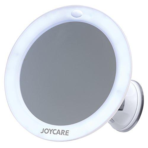 Joycare JC-318 Mirror Specchio Luminoso con Ventosa, 5 Ingrandimenti, Bianco