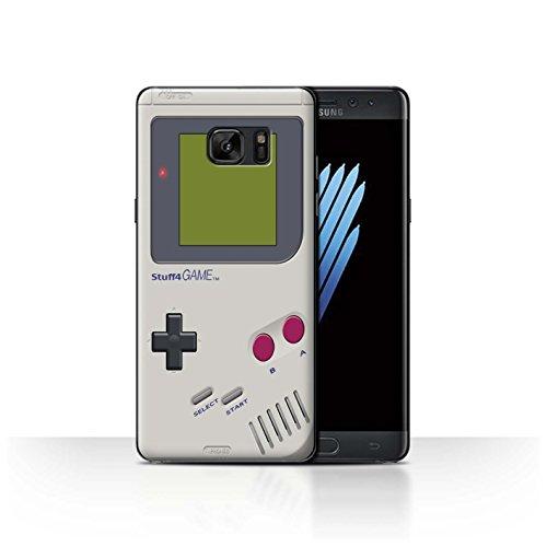 Custodia/cover/caso/cassa rigide/prottetiva stuff4 stampata con il disegno console di gioco per samsung galaxy note 7/n930 - nintendo game boy