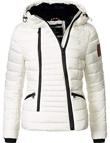 Navahoo Damen Winterjacke Steppjacke Tabea Bright White Gr. M