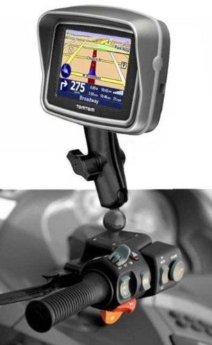 Halterung Motorrad Ablagekorb Ölkanne kompatibel mit Tomtom Rider Second Edition V2RAM RAM-b-345-347u