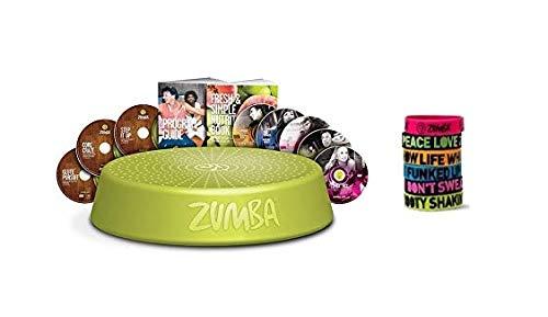 Zumba-Set Incredible Results Gewichtsverlust-Fitness-mit 8 DVDs + Rizer + 6 Zumba Armbänder in versch. Farben und Sprüchen
