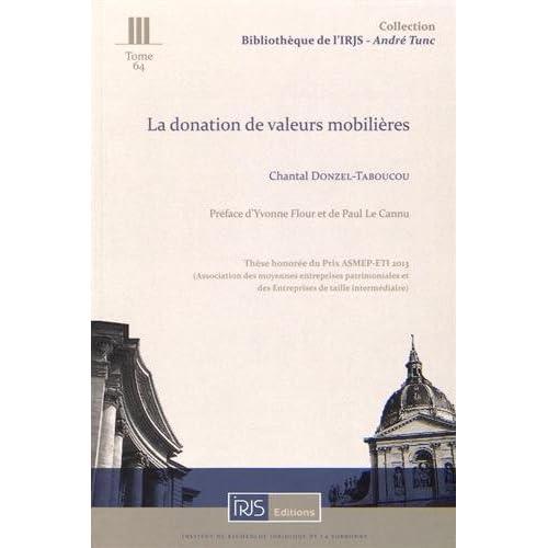 La donation de valeurs mobilières