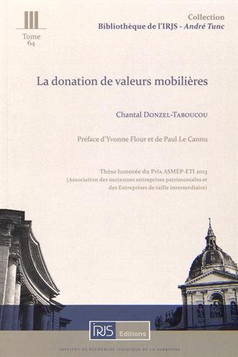 La donation de valeurs mobilières par Chantal Donzel-Taboucou