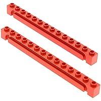 2x Lego System Führungsschiene creme weiss 1x14 Rolltor Nut Führung 4177841 4217