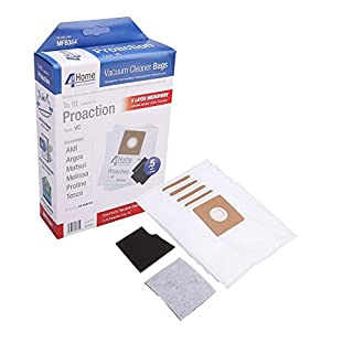 MasterPart Extra Strong Microfibre Cloth Dust Bags For Argos Value Vacuum Cleaners