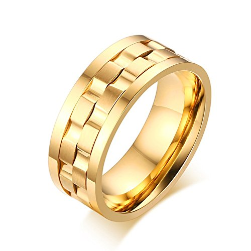 Heyrock Spike Rings for Men Rotatable Wedding & Engagement Rings