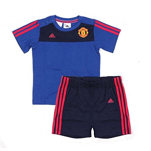 Adidas Manchester United 3S Smr Set Conjunto de equipación, Azul (Reauni/Maruni), para niños de 0-3 Meses