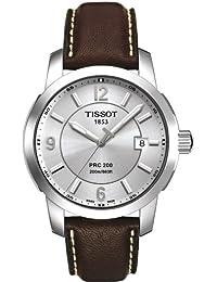Tissot PRC 200 T0144101603700 - Reloj de caballero de cuarzo, correa de piel color marrón
