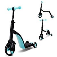 BABIFIS Balance Bikes, Kids 3 Wheel 3 In 1 Toddler Scooter,3 Riding Modes, Easily Transform,with Adjustable Stem & Durable Frame,3 Color