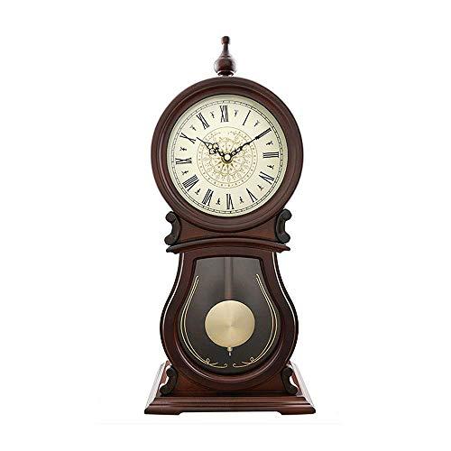 lquide Pendel Kaminuhr, Schreibtisch Tischuhr Holzornament Antike Vintage Uhren Klassische...