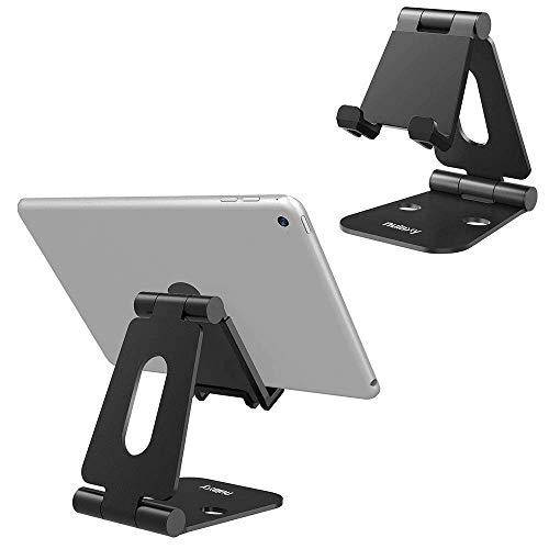 NULAXY Handy Ständer, Tablet Ständer Verstellbare Phone Ständer für Schalter E-Reader und Google Nexus Samsung Galaxy Android Smartphones (Schwarz 2#) (Android Nexus 4)