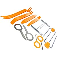 AERZETIX: Kit de llaves extraccion para desmontar de autoradio. Juego de 12 herramientas C40107